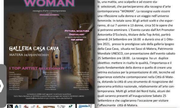 Articolo Rassegna d'Arte WOMAN Matera